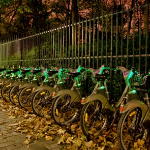 Velib's by night
